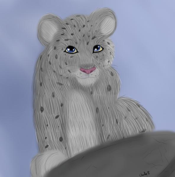 Attempt at realism, so I drew a snow leopard cub.