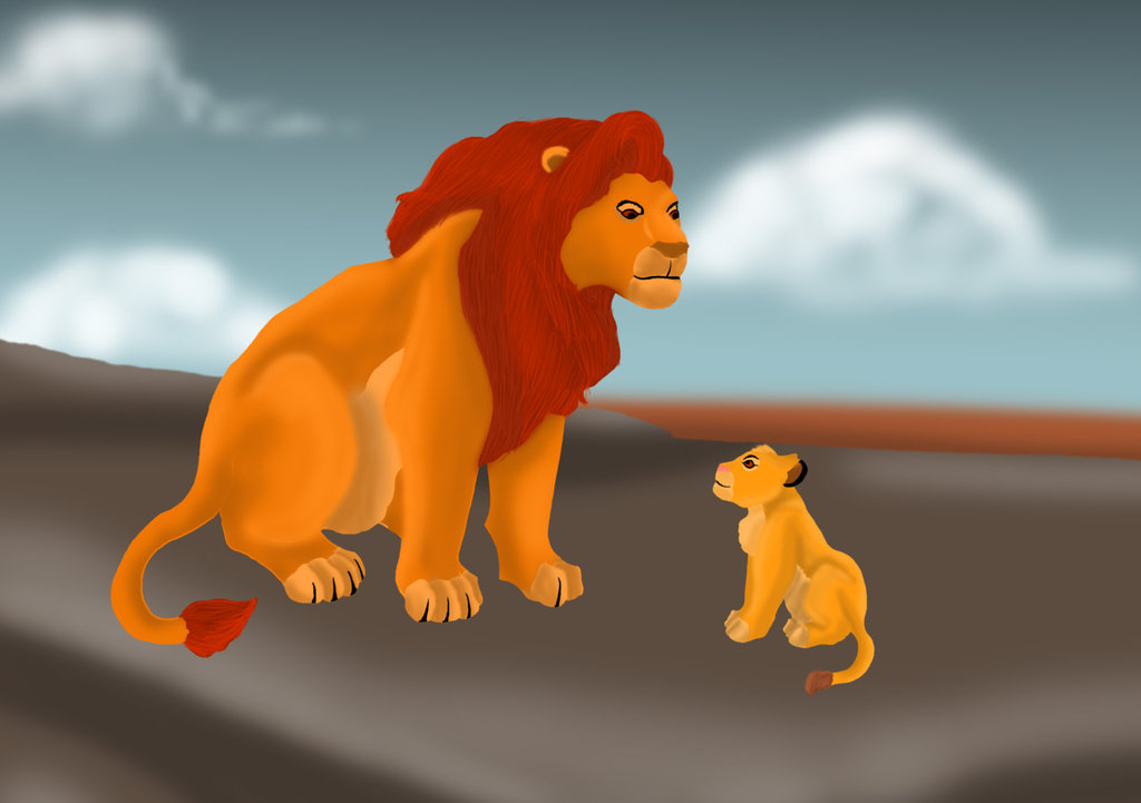 lion king simba vs scar. So here is Mufasa and Simba