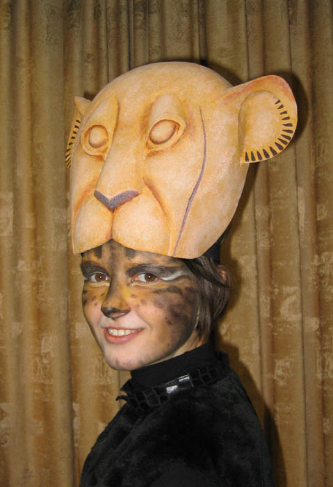 "This is the mask of Nala from musical ""The Lion King"" on Broadway."
