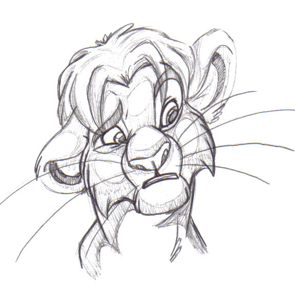 A doodle of Teen Simba inspired by both a pic that Kira did on the Oekaki ...