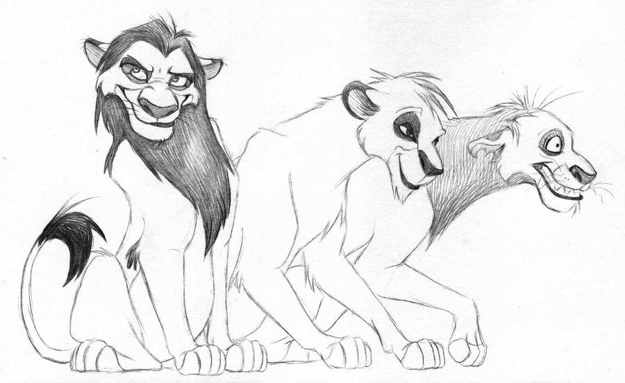 lion king scar hyenas. Three hyenas as lions!