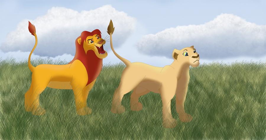 lion king simba nala. Simba#39;s about to playfully