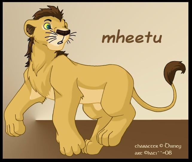 El hermanito menor de Nala,Mheetu Mheetu2